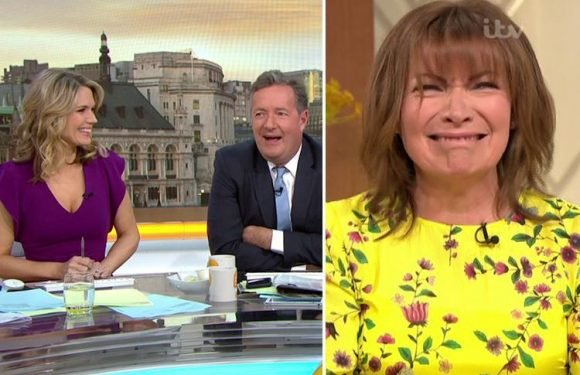 Piers Morgan returns to the new look Good Morning Britain set and is thrilled as Lorraine Kelly invites him for a mud bath
