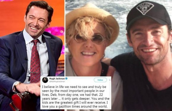 Hugh Jackman posts emotional tribute to wife of 22 years to celebrate their anniversary