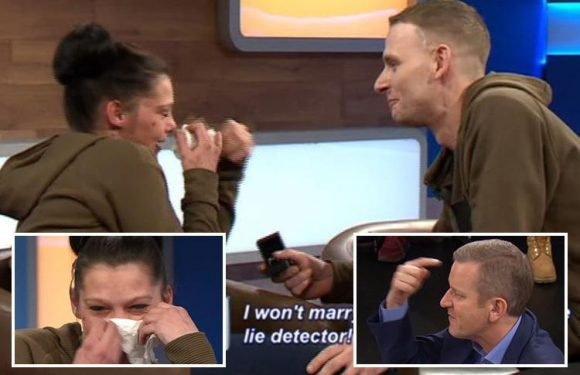 Jeremy Kyle guest proposes to girlfriend after accusing her of cheating on him