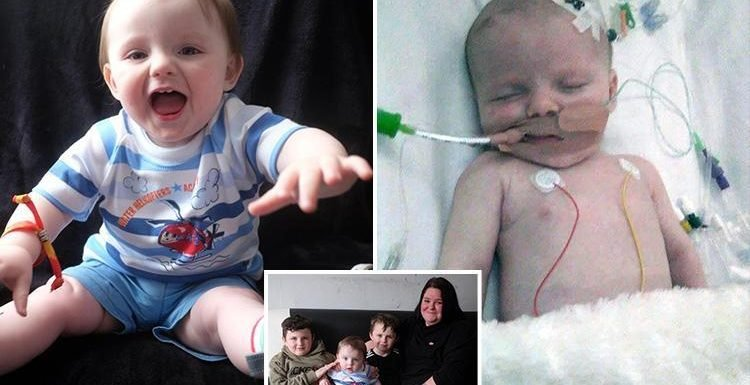 Mum's warning as newborn baby fighting for life just hours after being diagnosed with 'common cold'