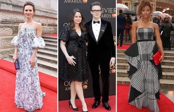 Olivier Awards 2018 red carpet best dressed sees Alexandra Burke and pregnant Giovanna Fletcher bring the glamour