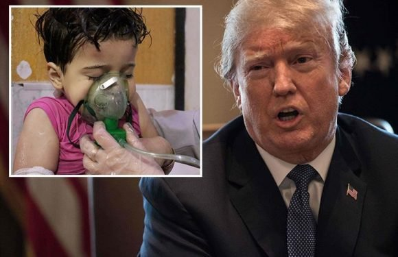 Donald Trump blasts 'heinous' Syria chemical attack and warns Bashar al-Assad of 'major decision' coming in next 48 hours