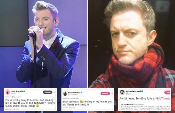 Scarlett Moffatt, Phillip Schofield and Rylan Clark-Neal lead tributes to The Overtone's Timmy Matley who died aged 36