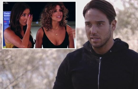 Towie's James Lock begs Yazmin Oukhellou's mum for forgiveness after their furious row in Barcelona