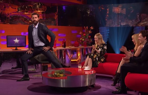 Watch John Krasinski bust out his incredible dance moves for Kylie Minogue on The Graham Norton Show
