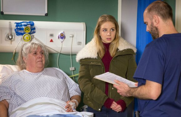 Emmerdale's Lisa Dingle makes a shocking decision after receiving a death warning at the hospital