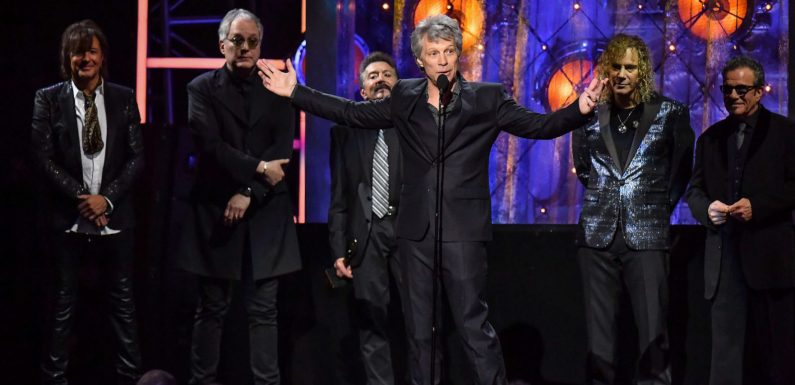 Bon Jovi are inducted into the Rock and Roll Hall of Fame