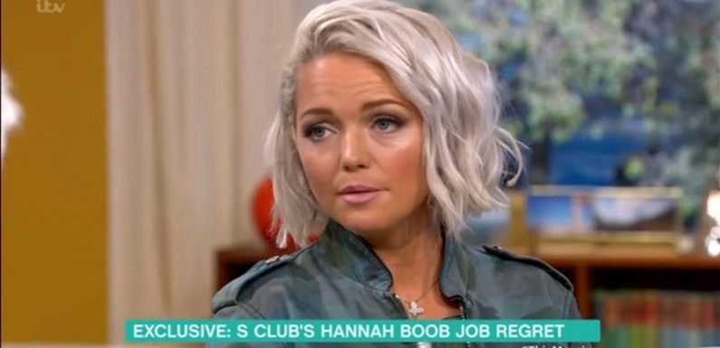 S Club 7 star Hannah Spearritt says plastic surgery led to crippling anxiety and memory loss