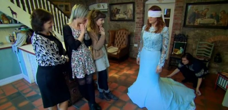 Viewers stunned as groom on Don't Tell the Bride Ireland dyes wedding dress bright blue