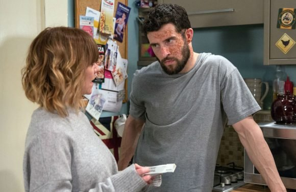 Emmerdale's Ross Barton is furious tonight as Rhona Goskirk steals his painkillers