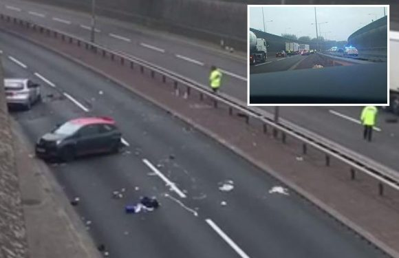 A50 crash leaves man dead and woman fighting for her life in Staffordshire in horror smash following police chase