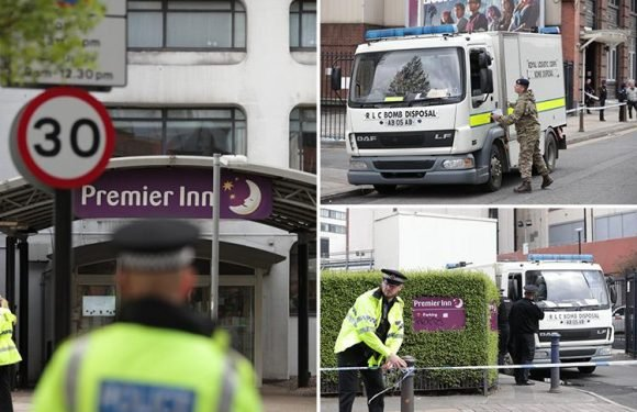 Manchester Premier Inn evacuated as bomb squad are called to 'suspicious package' and people warned to avoid area