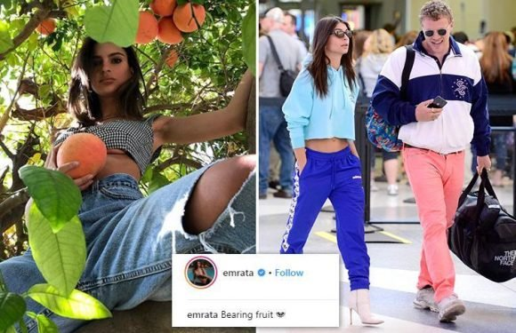 Emily Ratajkowski's fans convinced she's pregnant after she posts snap saying she's 'baring fruit'