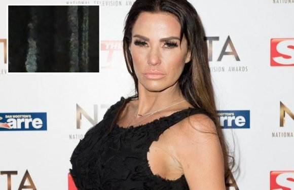 Katie Price shares creepy video of a ghost 'walking through her mirror' as she's convinced her house is haunted