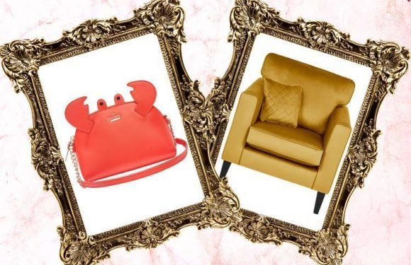 A golden armchair and a Kate Spade bag… here's what we're lusting after today