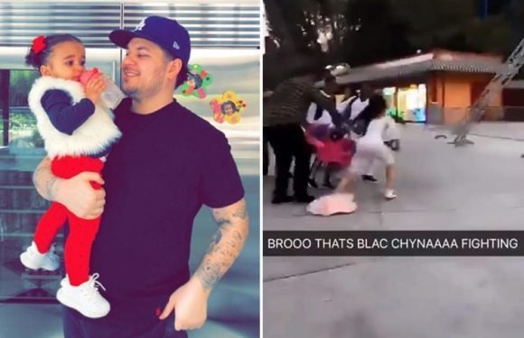 Rob Kardashian 'threatening to take Blac Chyna to court' over 'theme park bust-up' in front of daughter Dream