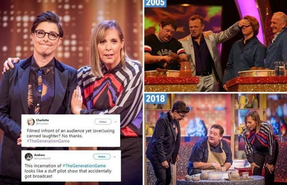 Generation Game fans blast car-crash revival featuring repeat of Johnny Vegas' pottery sketch as Sue Perkins and Mel Giedroyc's gags flop