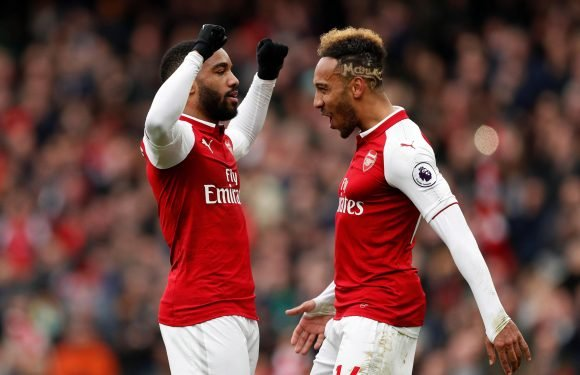 Arsenal boss Arsene Wenger hints he is planning to shift Pierre-Emerick Aubameyang out wide to accommodate Alexandre Lacazette