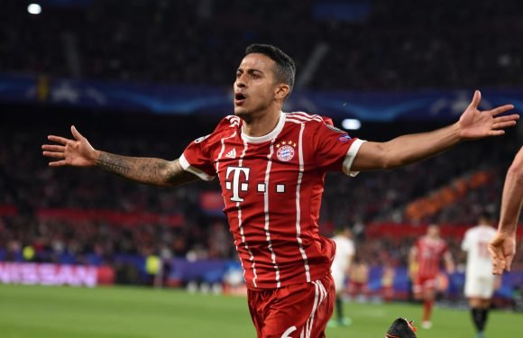 Man City rival Manchester United in the race for Thiago Alcantara deal with Bayern Munich