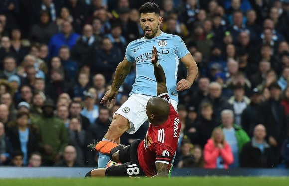 Sergio Aguero is OUT of Man City's crunch clash with Tottenham because of knee injury, says Pep Guardiola