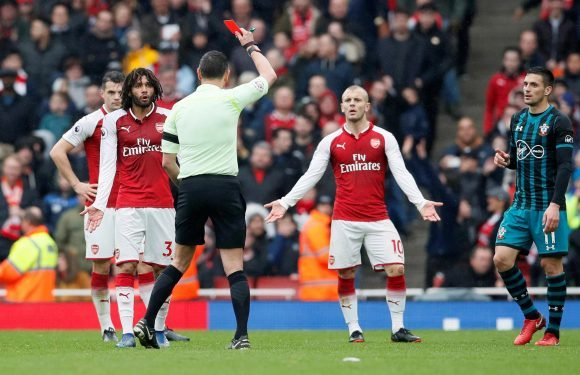 Arsenal midfielder Mohamed Elneny has red card against Southampton overturned after successful appeal