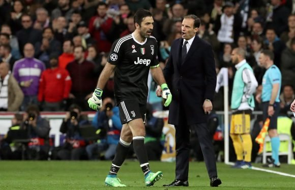 Gianluigi Buffon's Champions League exit reaction defended by Juventus boss Massimiliano Allegri