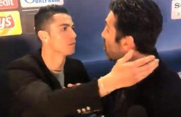 Cristiano Ronaldo shows class by stopping Gianluigi Buffon interview and hugging him after Real Madrid win over Juventus