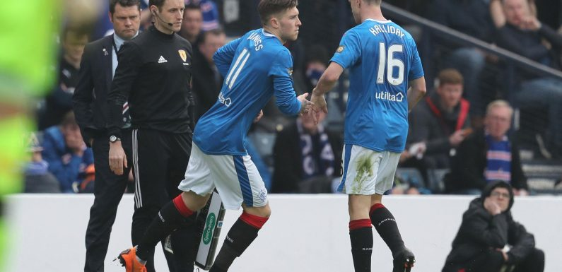 Rangers star Andy Halliday appears to launch foul-mouthed tirade against boss Graeme Murty after being substituted against Celtic