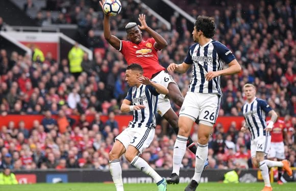 Manchester United star Paul Pogba bizarrely attempts 'Hand of God' against West Brom