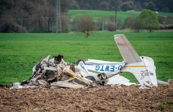 At least two dead after two planes crash in mid-air at airport in Germany