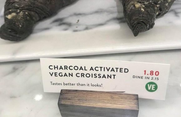 Snooty hipsters have finally taken things too far… with these CHARCOAL VEGAN CROISSANTS