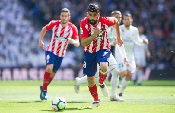 Arsenal blow as Diego Costa IS included in Atletico Madrid's travelling party for Europa League semi-final — despite Diego Simeone ruling former Chelsea striker out