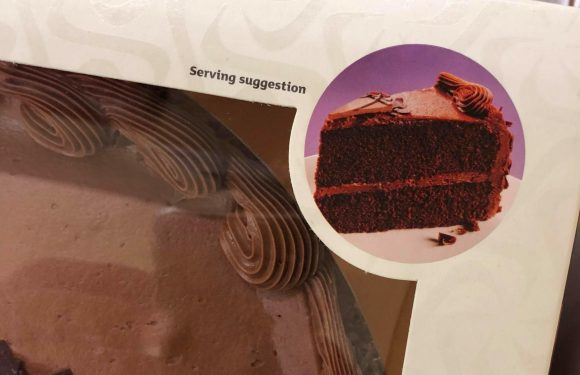 Sainsbury's mocked for VERY obvious serving suggestion for its chocolate cake