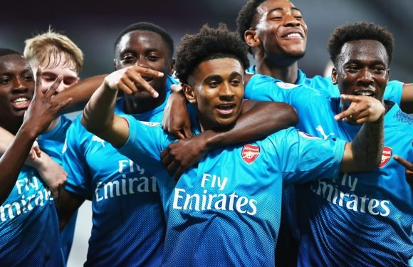 Arsenal Under-23s win Premier League 2 title as England starlets Reiss Nelson and Eddie Nketiah shine in 3-1 win over West Ham