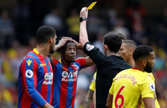 Watford 0 Palace 0: Eagles denied penalty as Wilfried Zaha controversially booked for diving after Adrian Mariappa challenge