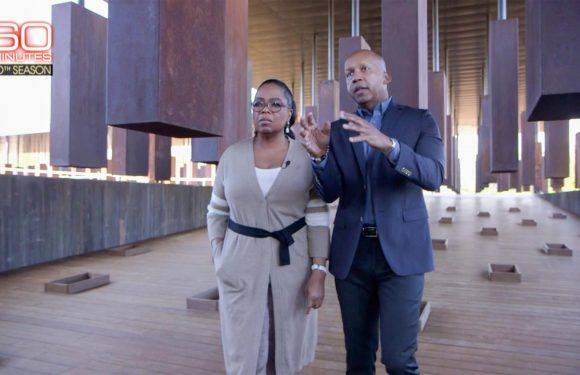 Oprah Winfrey leads 60 Minutes inside new memorial to victims of lynching