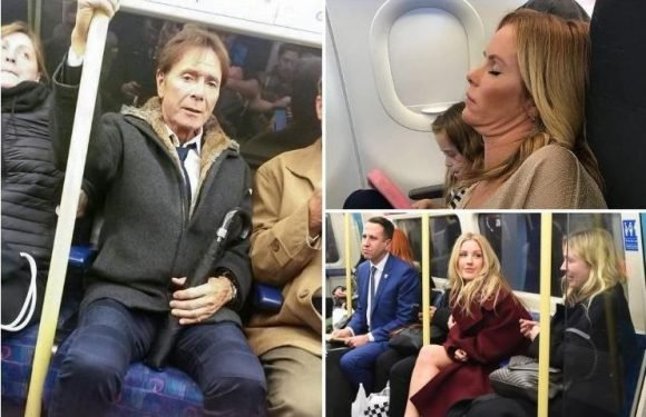 The celebs spotted slumming it on public transport by eagle-eyed commuters