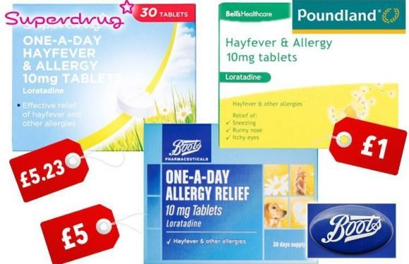 Poundland is selling hay fever drugs – saving you £5 per pack as 'pollen bomb' hits