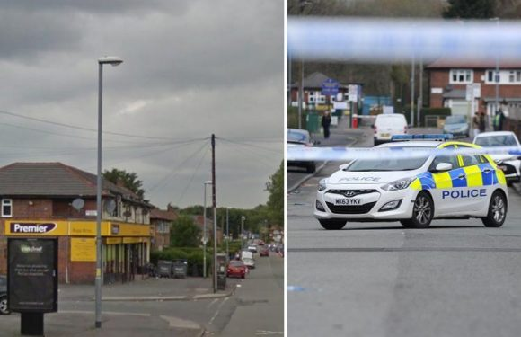 Manchester shooting – two boys aged 14 and 16 arrested after teen is shot 'in front of horrified kids and neighbours'
