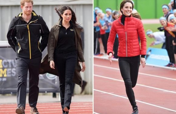 High heels vs. trainers… Meghan Markle and Kate Middleton's sporty looks compared