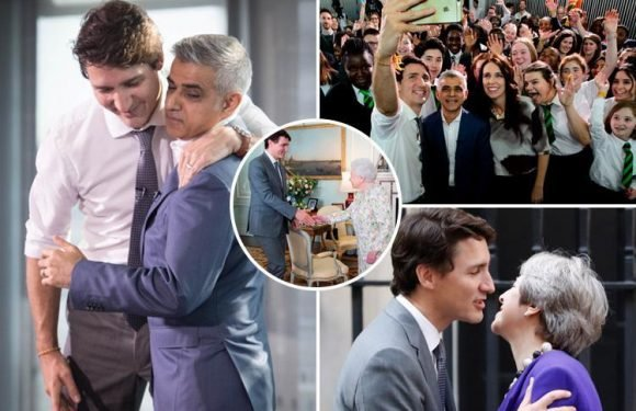 Sadiq Khan poses for selfie with right-on Canadian leader Trudeau and calls him 'one of world's leading feminists'