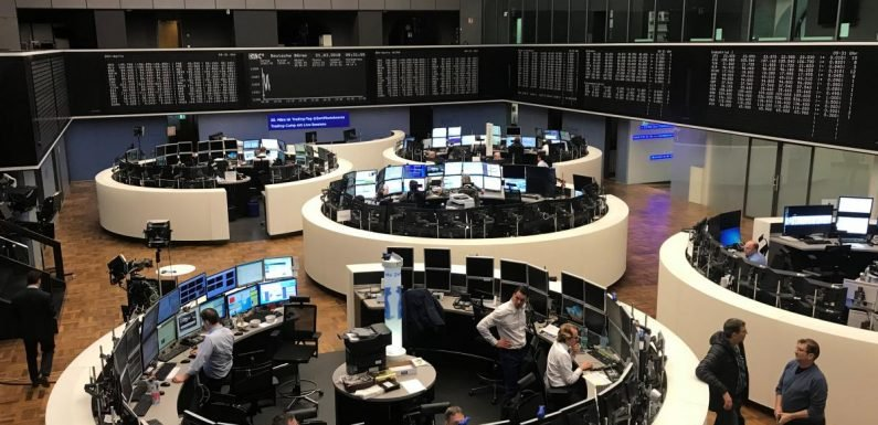 European shares led higher by Bayer, luxury stocks