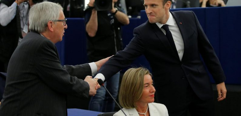'The real France is back', EU's Juncker says after Macron speech