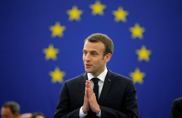 EU a haven from world's dangers, Macron tells Europeans