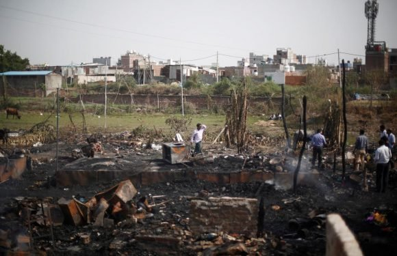 India police probe Twitter claim over fire at Rohingya camp