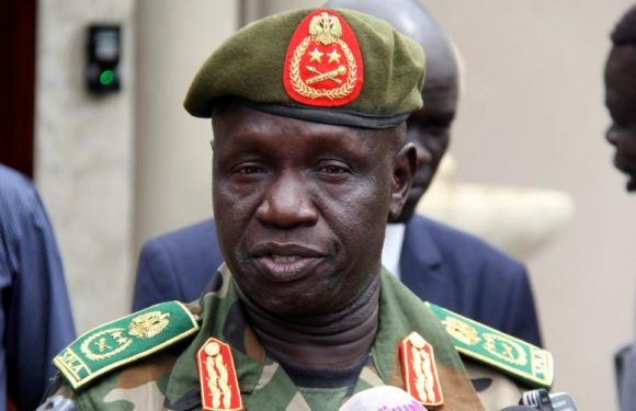 South Sudan's army chief General James Ajongo has died: government…