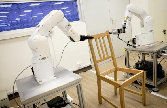 Flatpack fear no more? Robot assembles IKEA chair frame