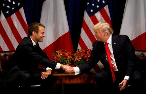Macron taps into U.S. Marines lore with tree sapling gift to Trump