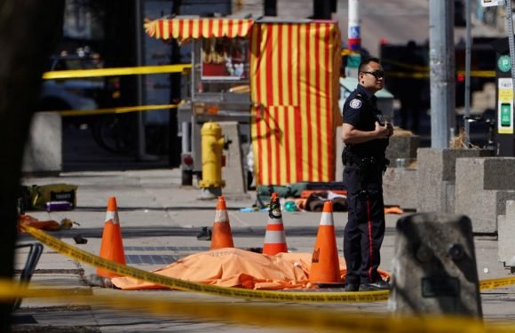 Van kills at least two, injures seven, on Toronto sidewalk