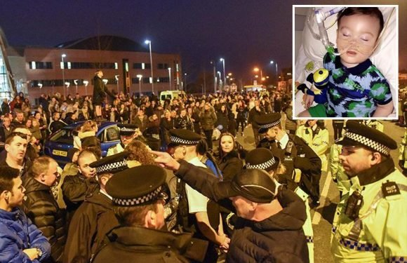 Alfie Evans parents in new legal bid as Alder Hey hospital complain of 'significant disruption' during protest last night